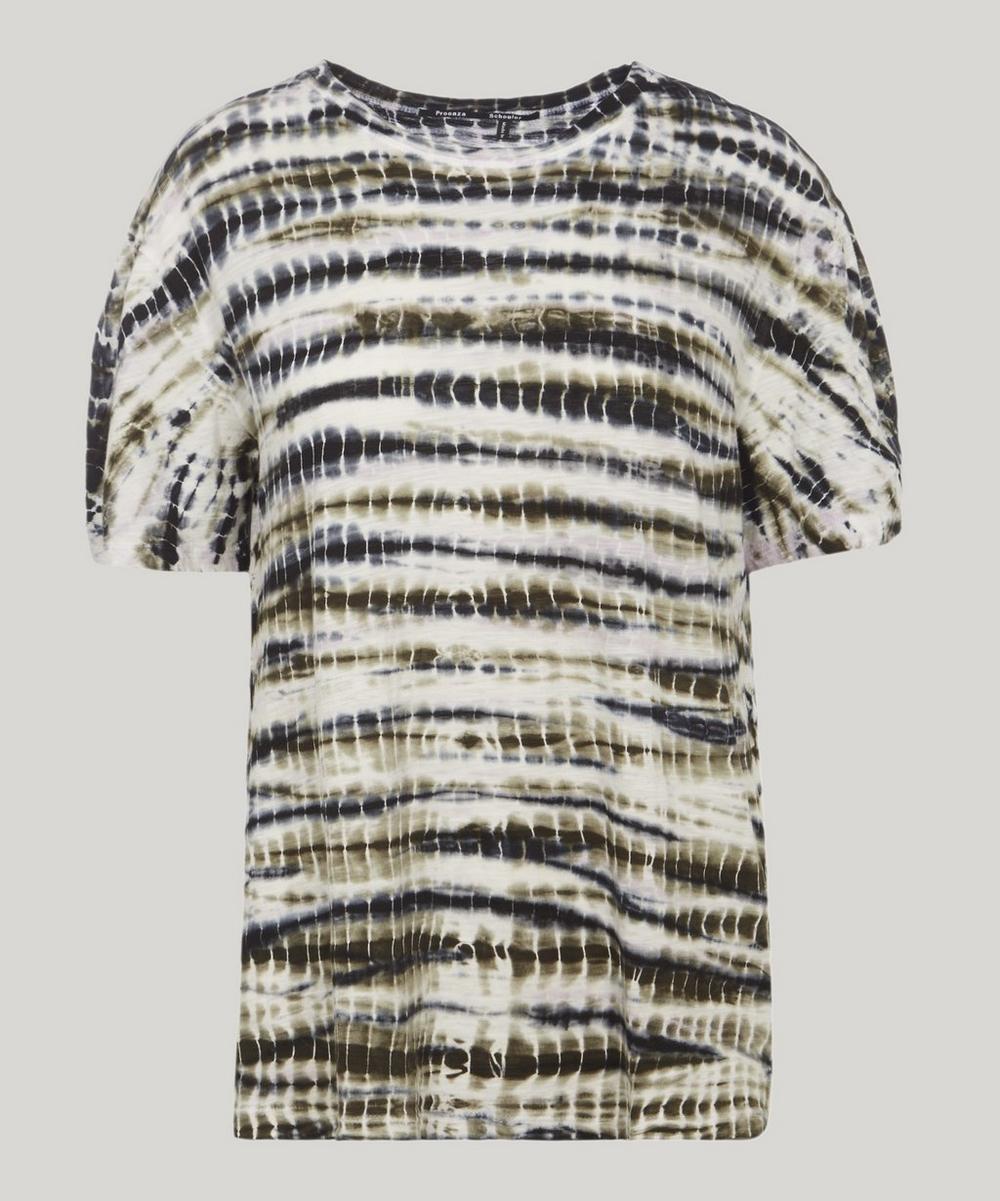 Tie Dye Cotton T-Shirt in White