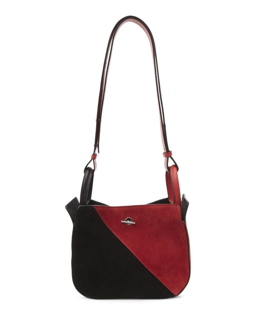 MICHINO Sibylle Suede Pm Bag in Black
