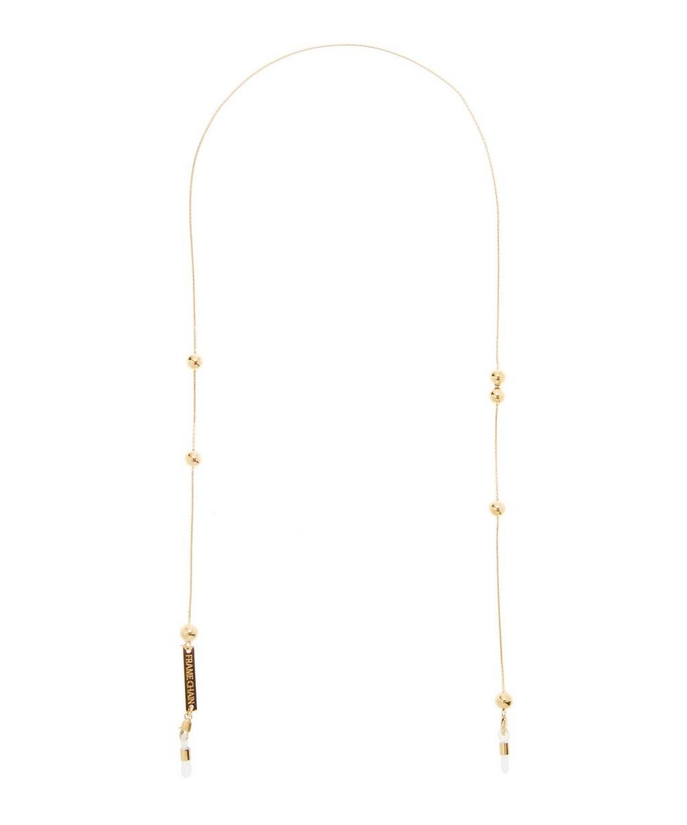 FRAME CHAIN GOLD-PLATED GOLDEN BALLS GLASSES CHAIN