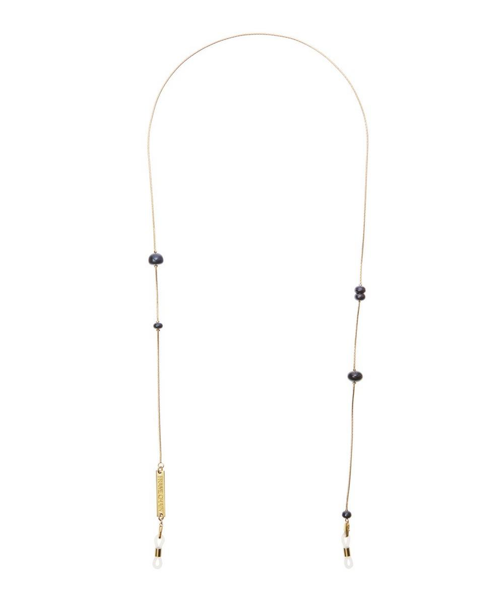 Gold-Plated Drop Pearl Glasses Chain