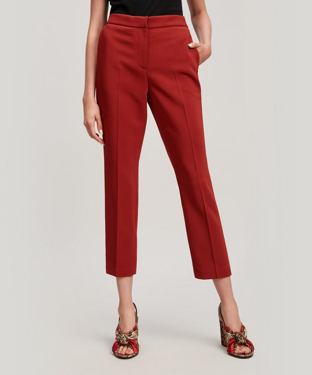 ROSETTA GETTY CADY CROP SKINNY STRETCH TROUSERS