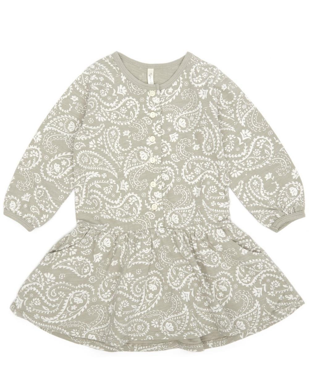 PAISLEY BUTTON JERSEY DRESS 3 MONTHS-3 YEARS