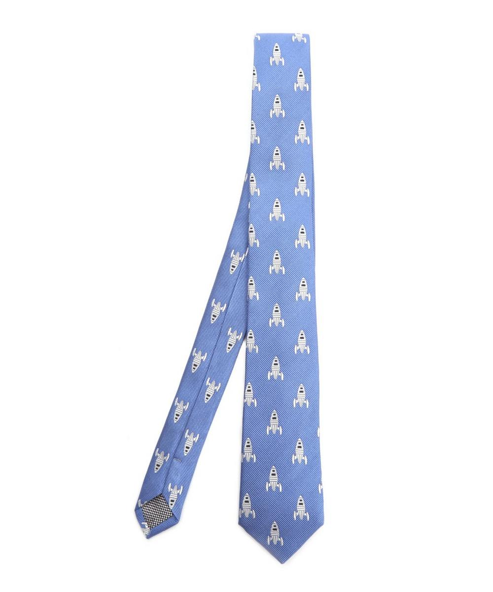 SIMON CARTER WEST END ROCKETS SILK TIE