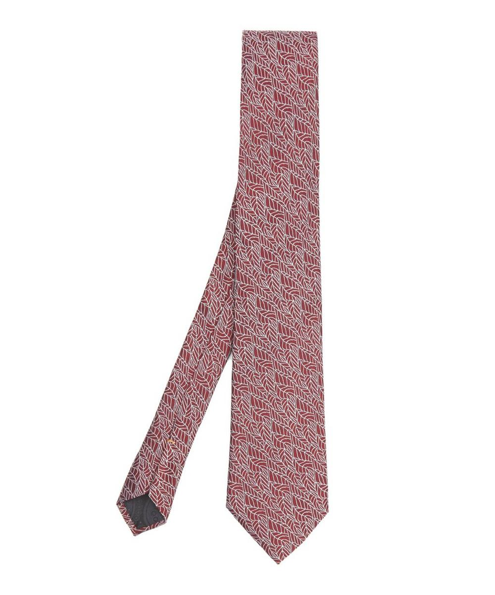SIMON CARTER WEST END AUTUMN LEAVES SILK TIE