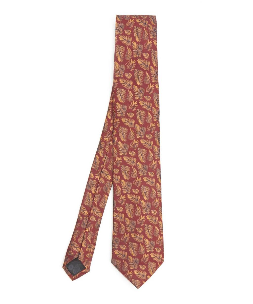 SIMON CARTER WEST END BRACKEN LEAVES SILK TIE