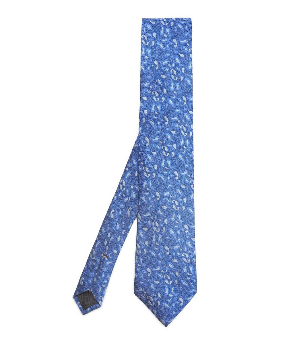 SIMON CARTER WEST END SILHOUETTE PAISLEY SILK TIE