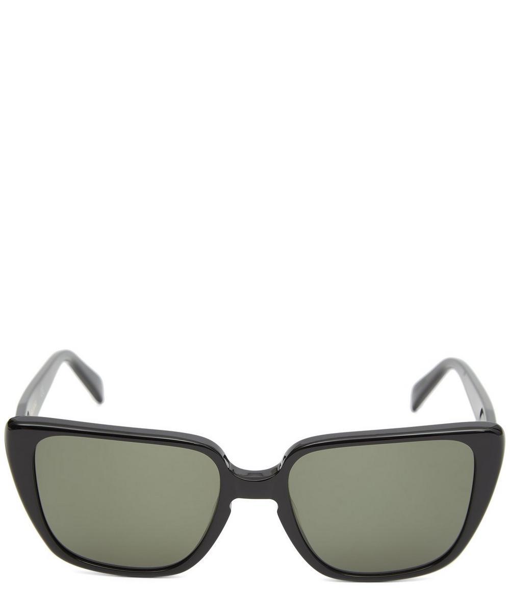 ALLY CAPELLINO Oversized Retro Sunglasses in Black