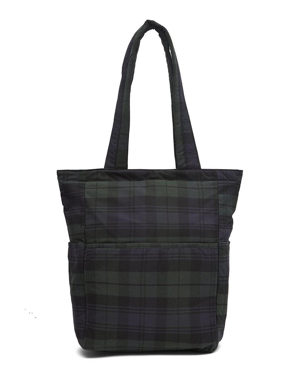 Bow Tartan Wax Cotton Tote Bag