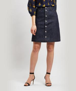 Therese Button-Down Denim Skirt