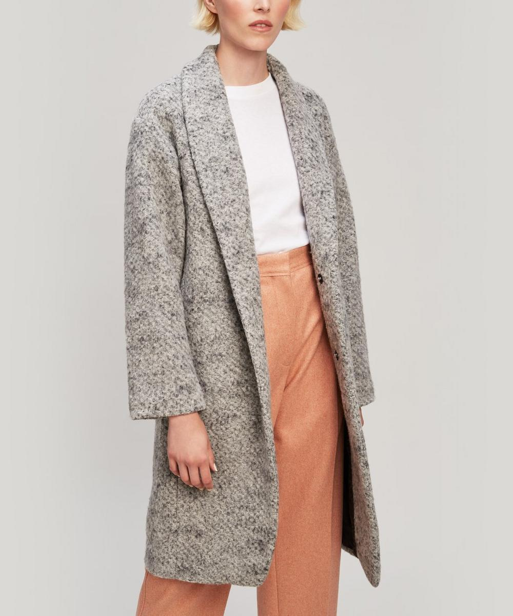 PAS DE CALAIS SINGLE BUTTON MELANGE WOOL COAT
