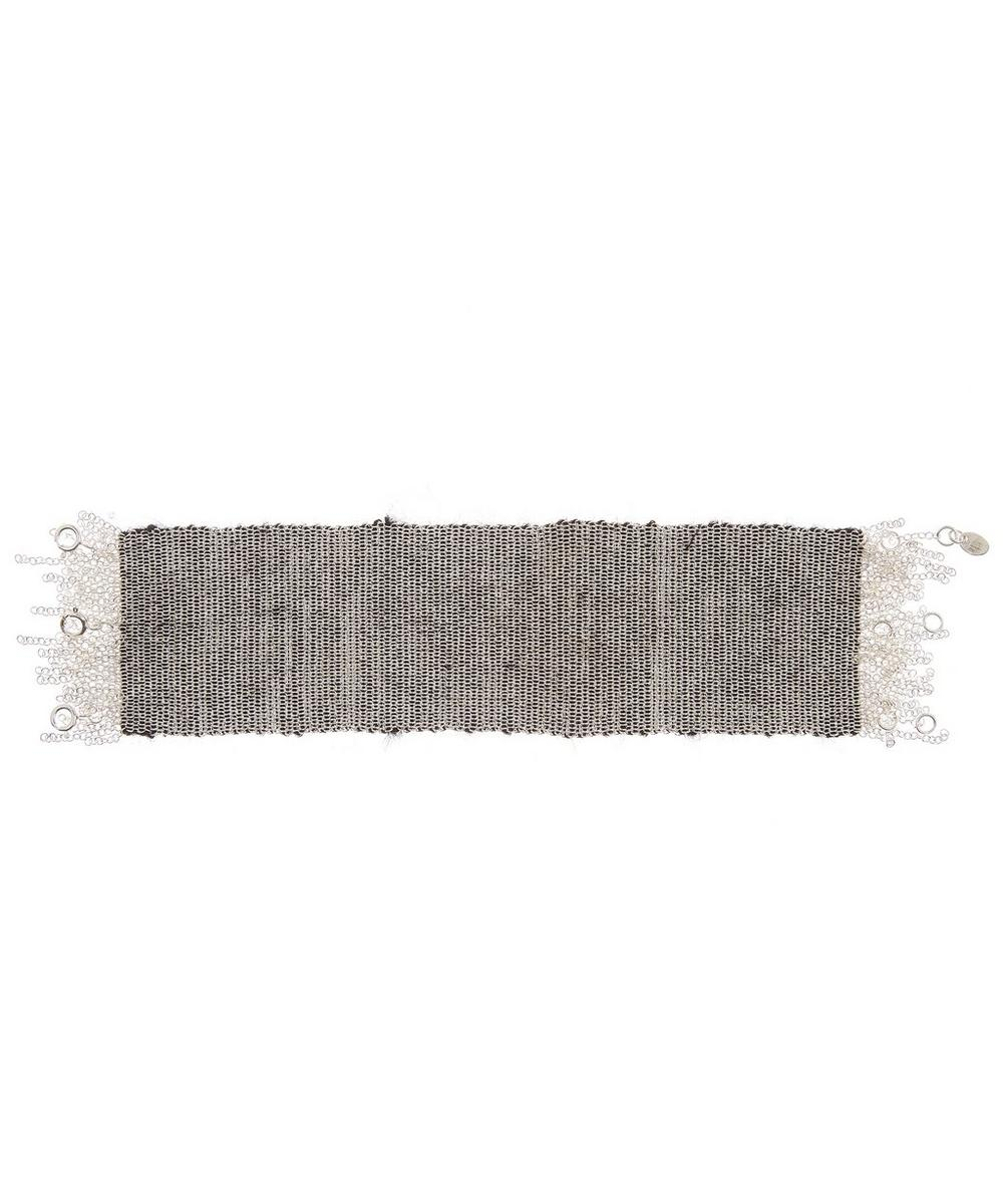 STEPHANIE SCHNEIDER Silver Mohair Wide Chain Bracelet