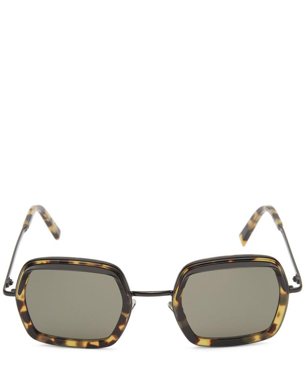 Square Hooded Sunglasses