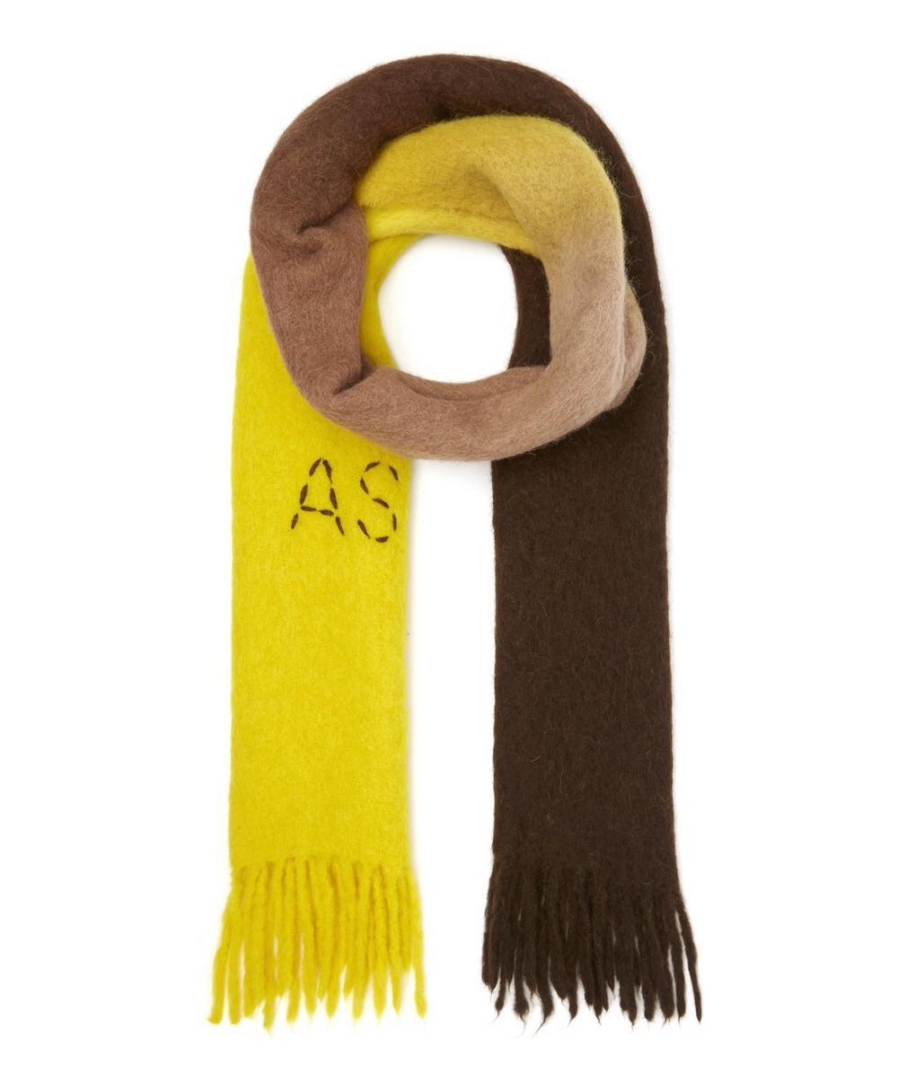 Kelow Dip-Dye Monogram Alpaca-Blend Scarf