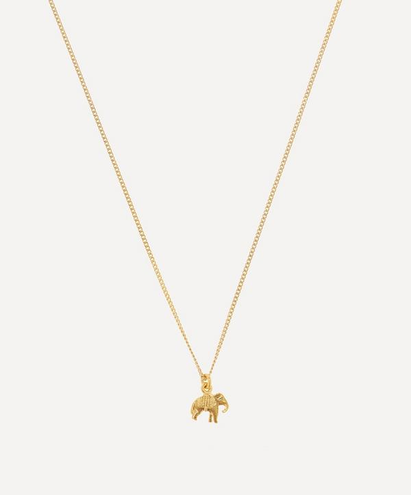 Gold-Plated Marching Elephant Children's Necklace
