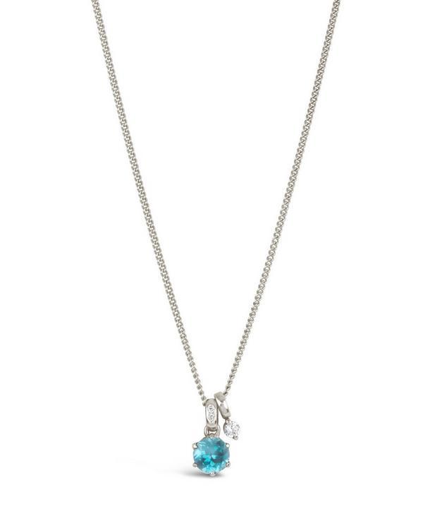Silver Gem Drops Swiss Blue Topaz Pendant Necklace