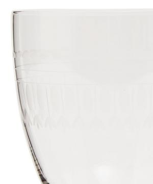 Set of Six Crystal Bistro Glasses With Ovals