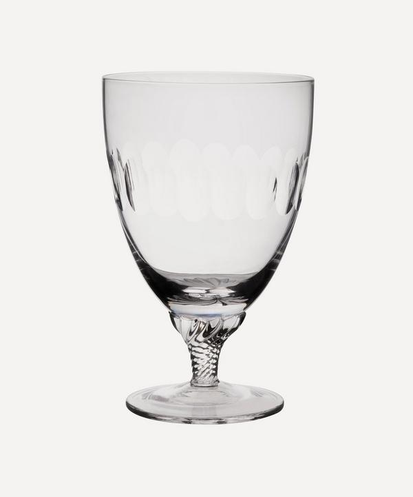 Set of Six Crystal Bistro Glasses With Lens