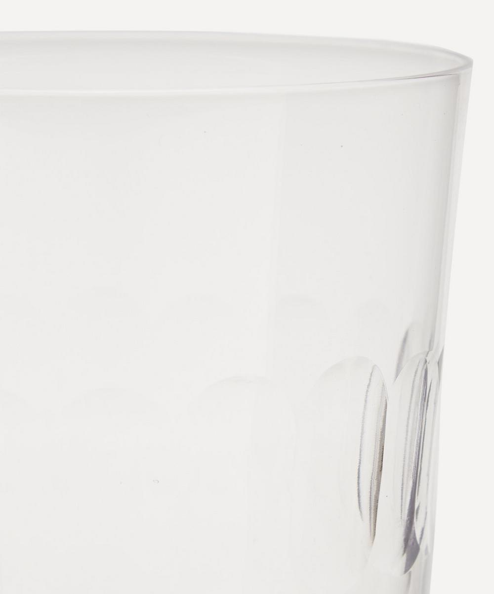 Set of Six Crystal Tumblers With Lens