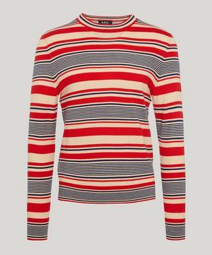 Scott Multi Stripe Merino Wool Jumper