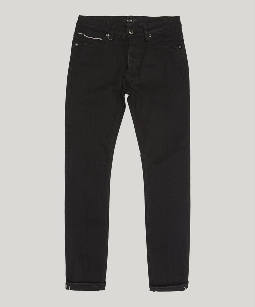 Lou Slim Black Selvedge Jeans