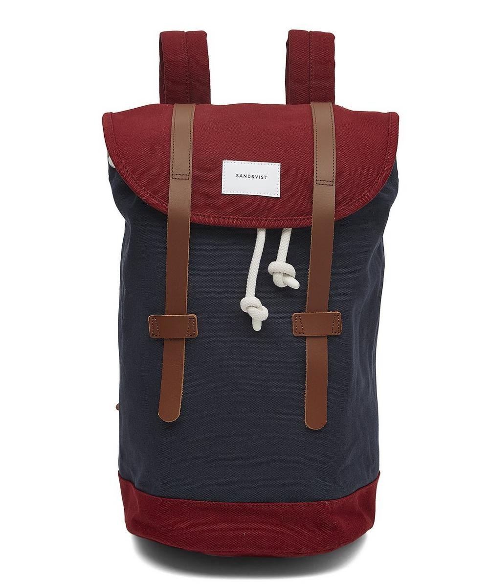 Stig Double Leather Strap Backpack