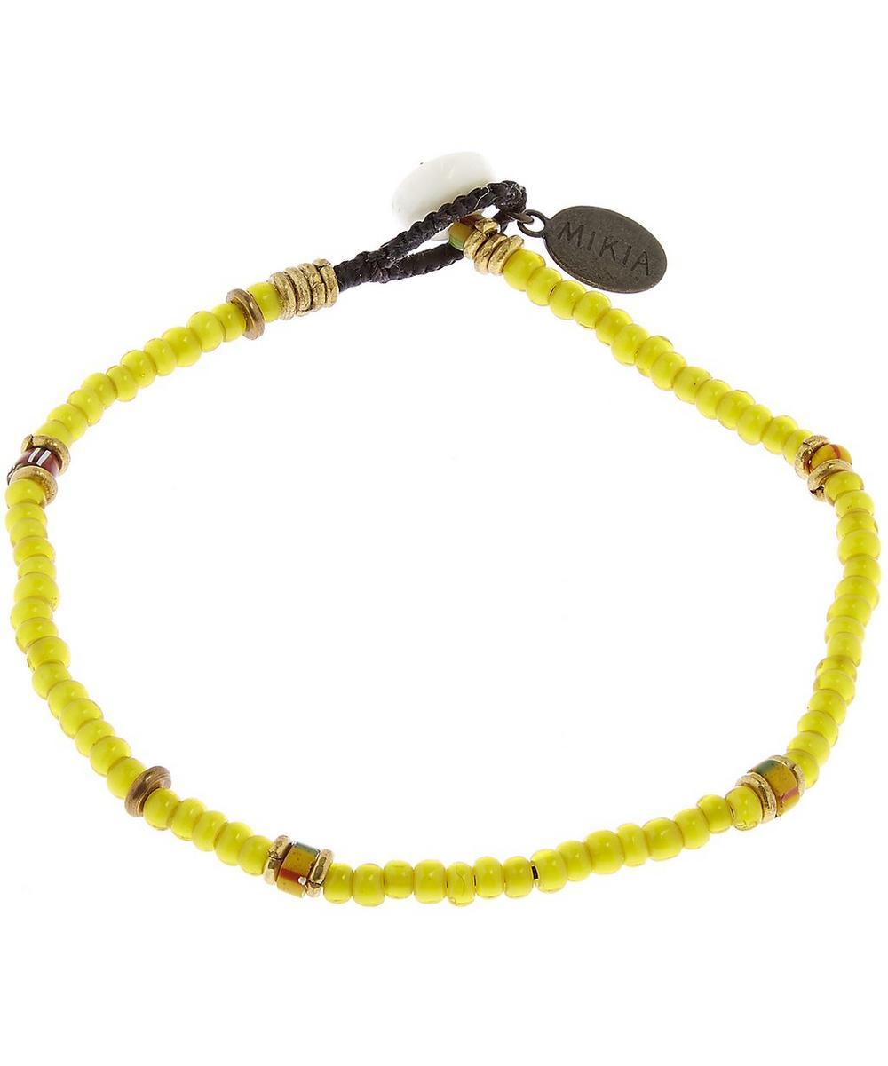 White Hearts Beads Bracelet