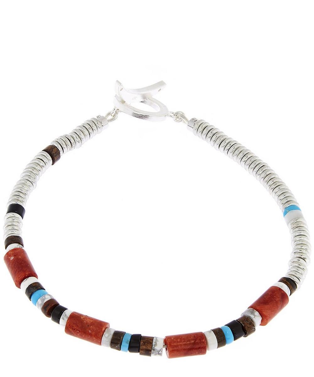 Coral Tube Bead Bracelet