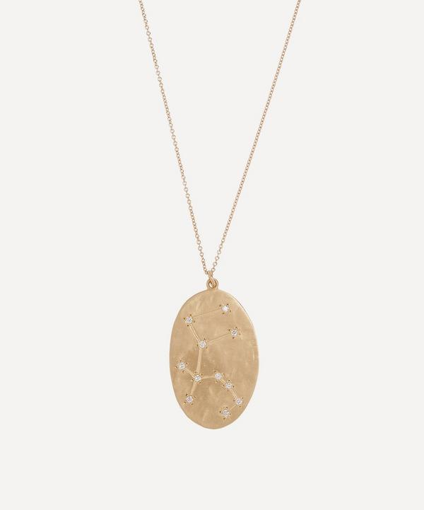 Brooke Gregson - 14ct Gold Aquarius Astrology Diamond Necklace