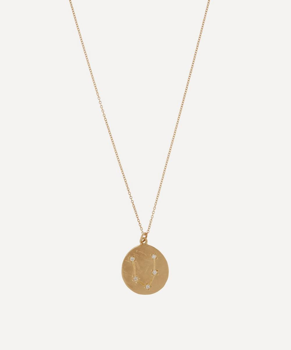 Brooke Gregson - 14ct Gold Pisces Astrology Diamond Necklace