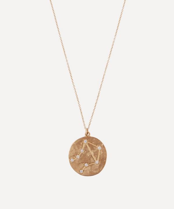 Brooke Gregson - 14ct Gold Libra Astrology Diamond Necklace