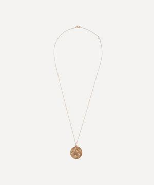 Gold Libra Astrology Diamond Necklace