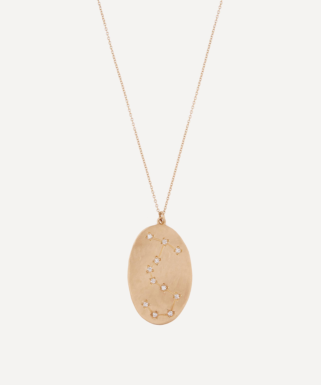Gold Scorpio Astrology Diamond Necklace Liberty London