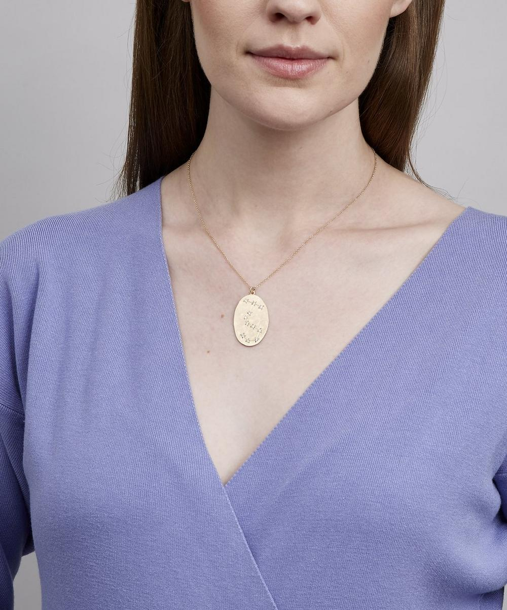 Gold Scorpio Astrology Diamond Necklace