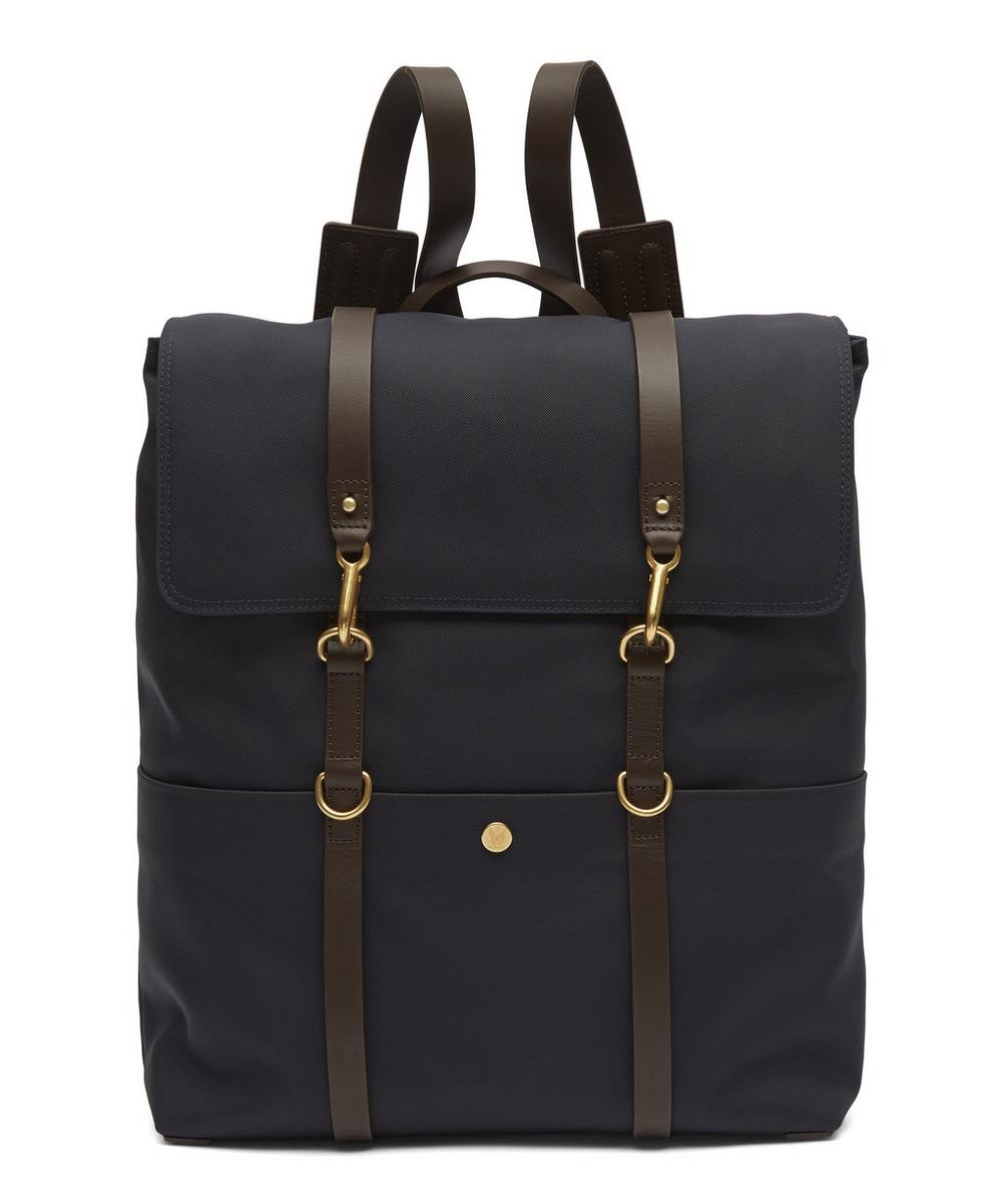 MISMO Double Strap Canvas Backpack in Navy