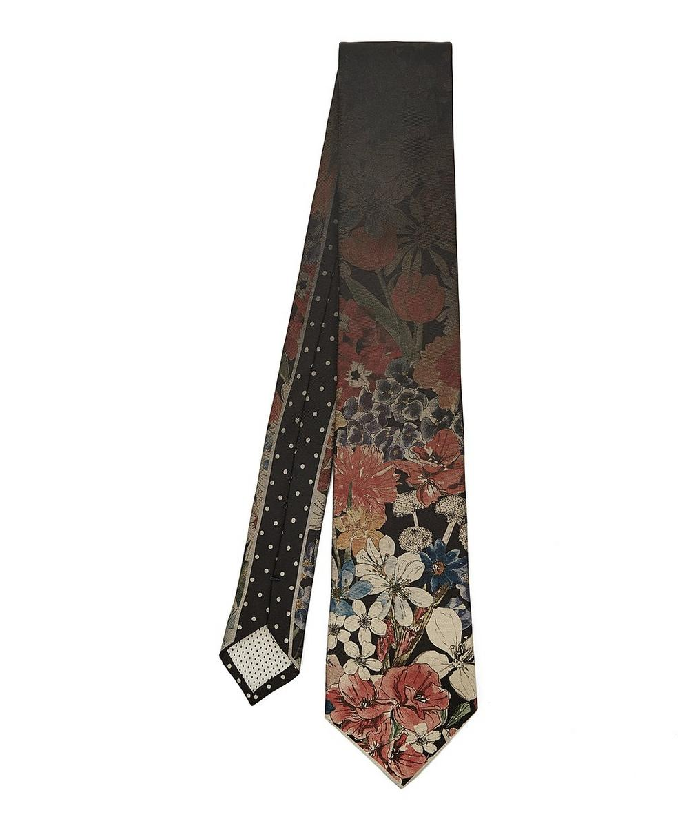 PAUL SMITH FADED FLORAL SILK TIE