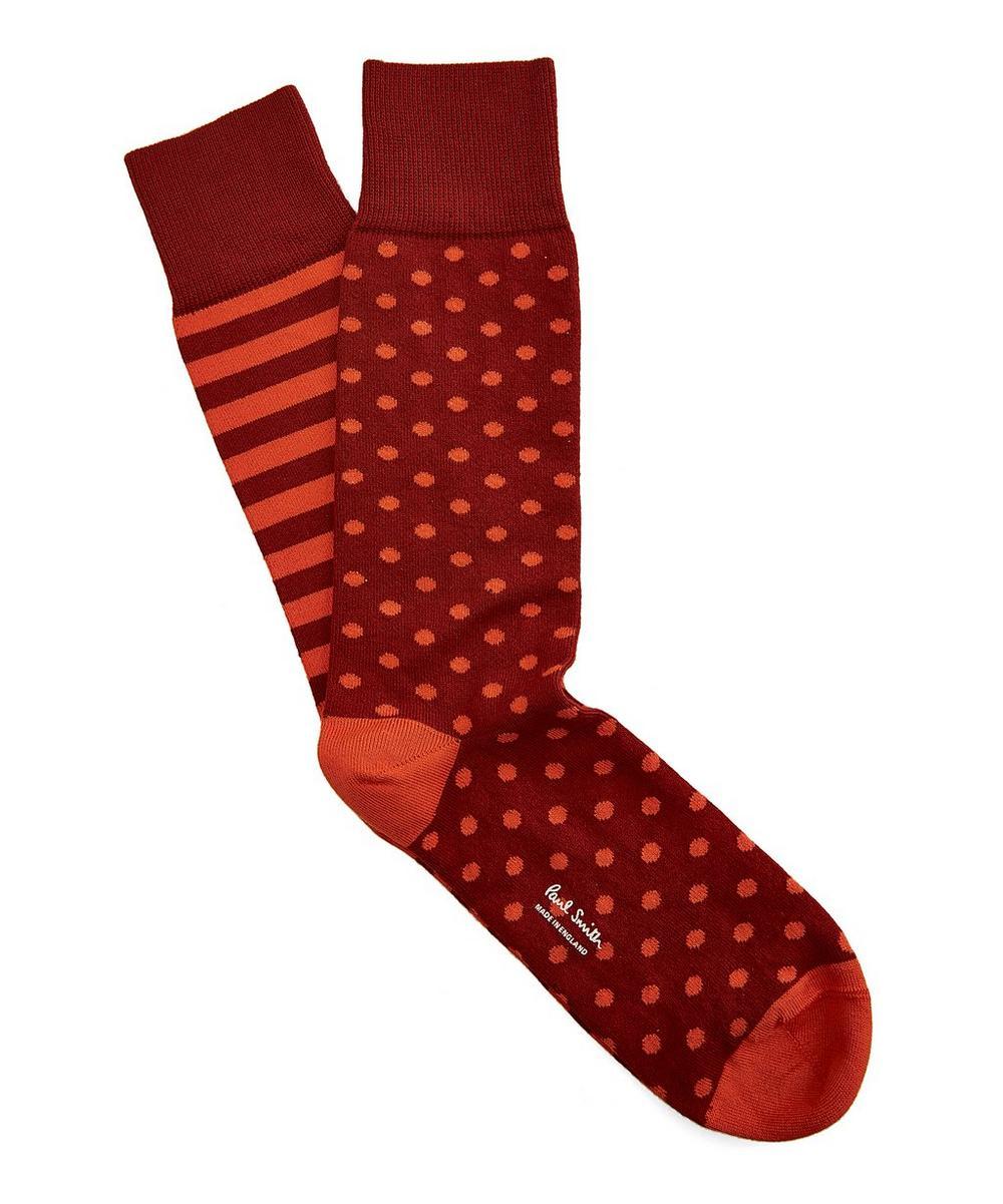 Polka Dot Striped Odd Socks