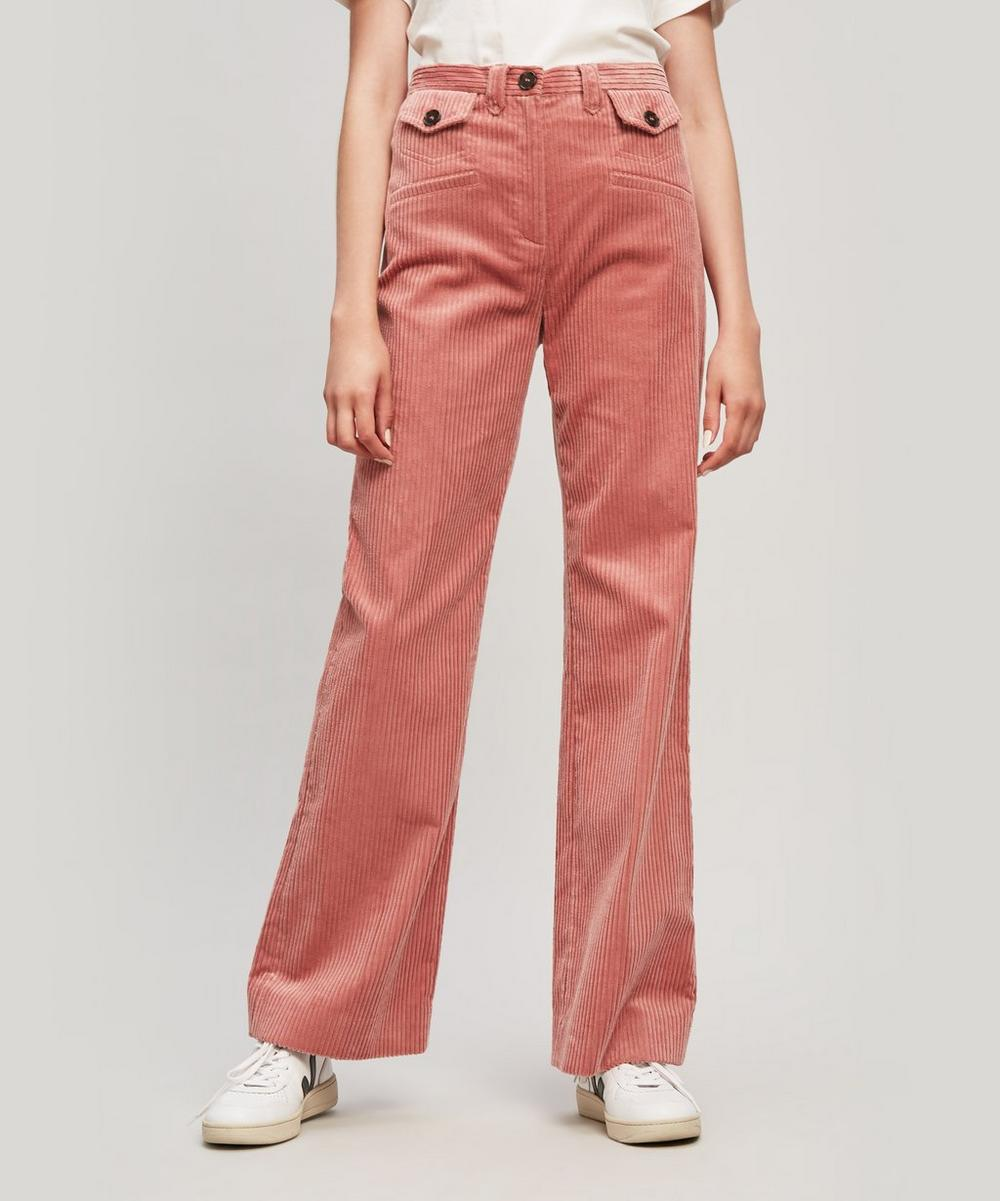 Alexa Chung POCKET WIDE LEG TROUSERS