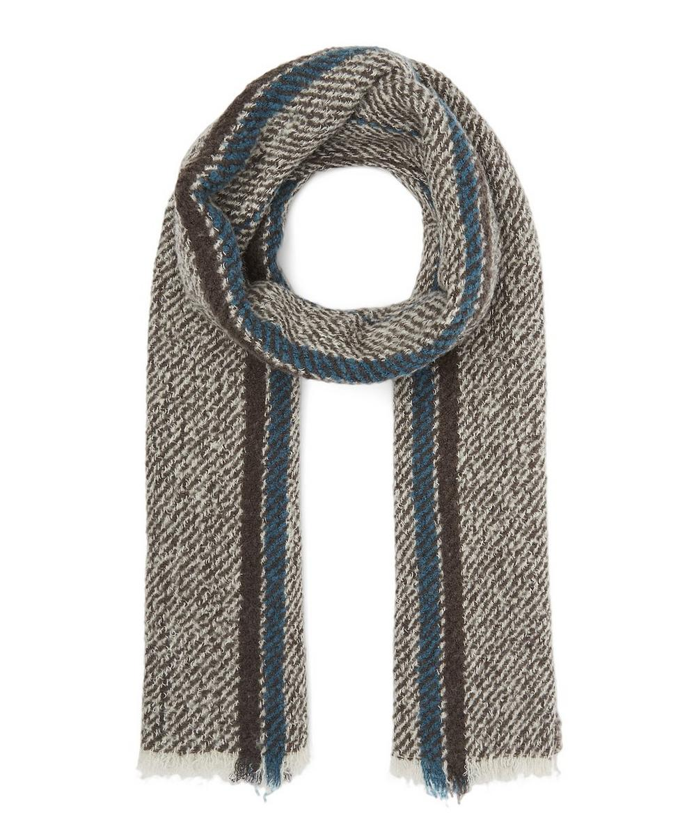 DESTIN LARGE BLOCK STRIPE SCARF
