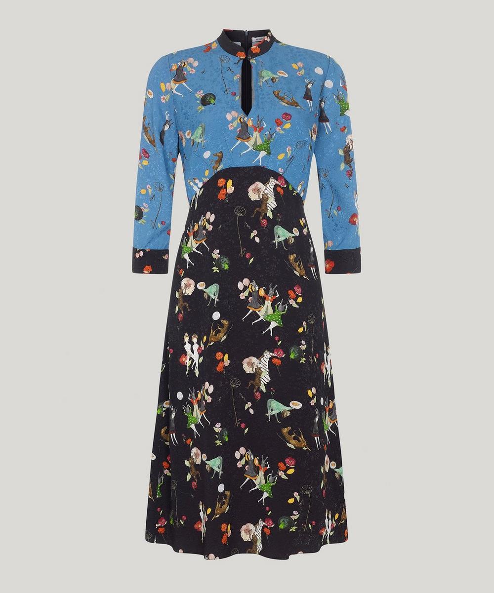 Michaela Floral Keyhole Dress