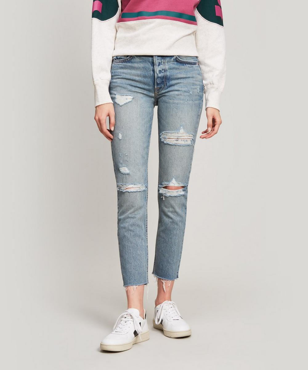 Karolina Ripped High-Rise Jeans