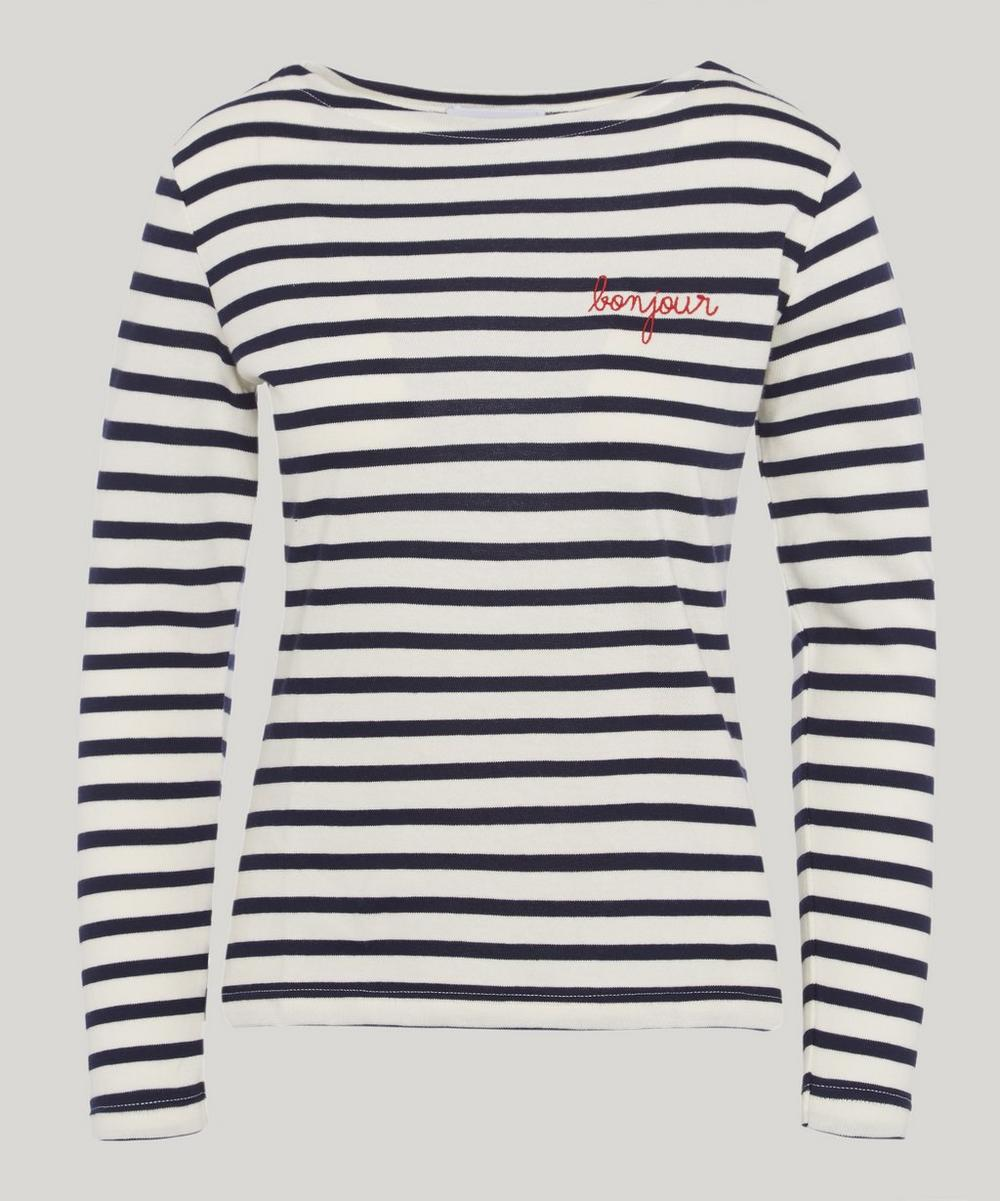 Maison Labiche BONJOUR STRIPED LONG SLEEVE T-SHIRT