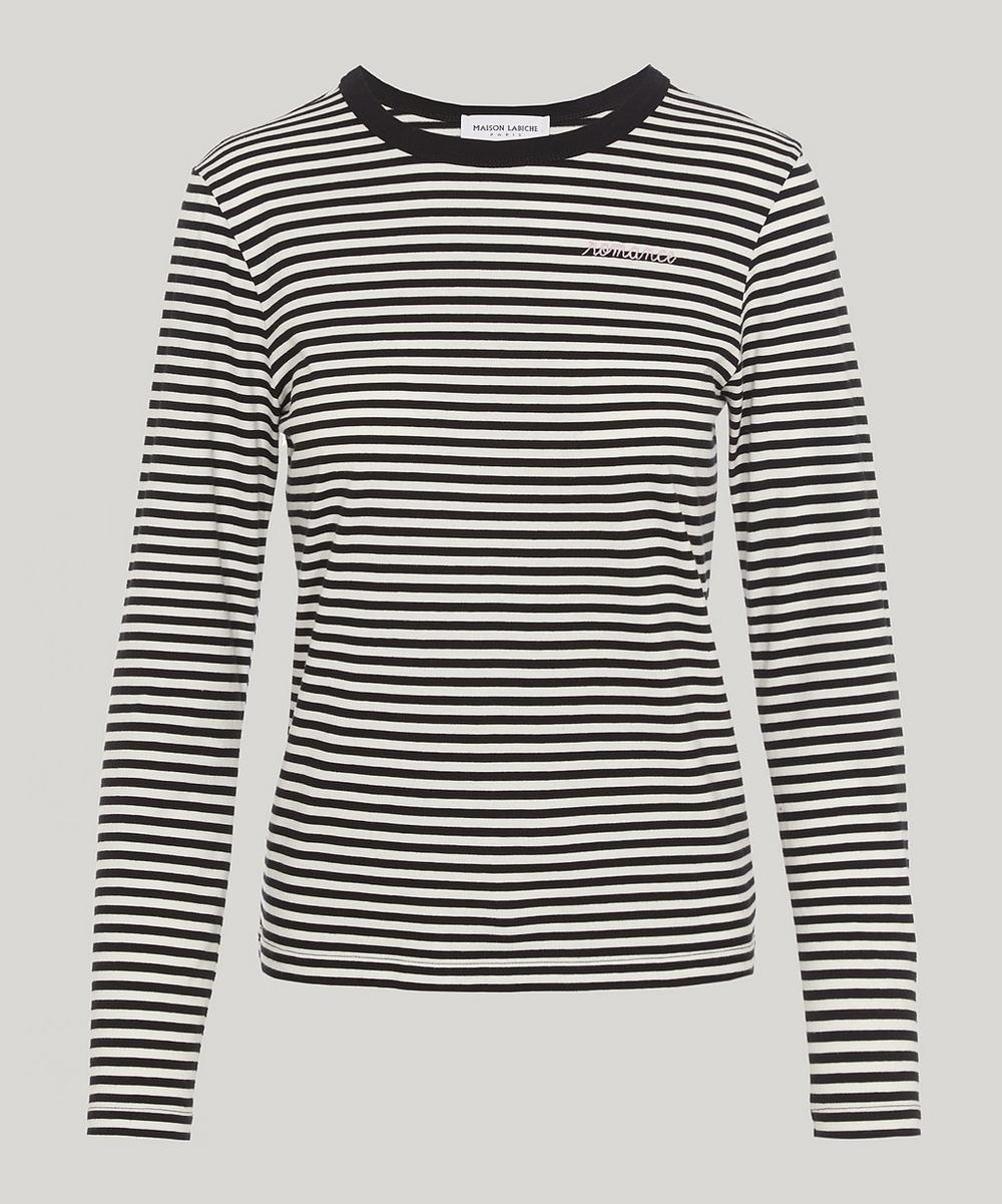 Maison Labiche ROMANCE STRIPE LONG-SLEEVE T-SHIRT