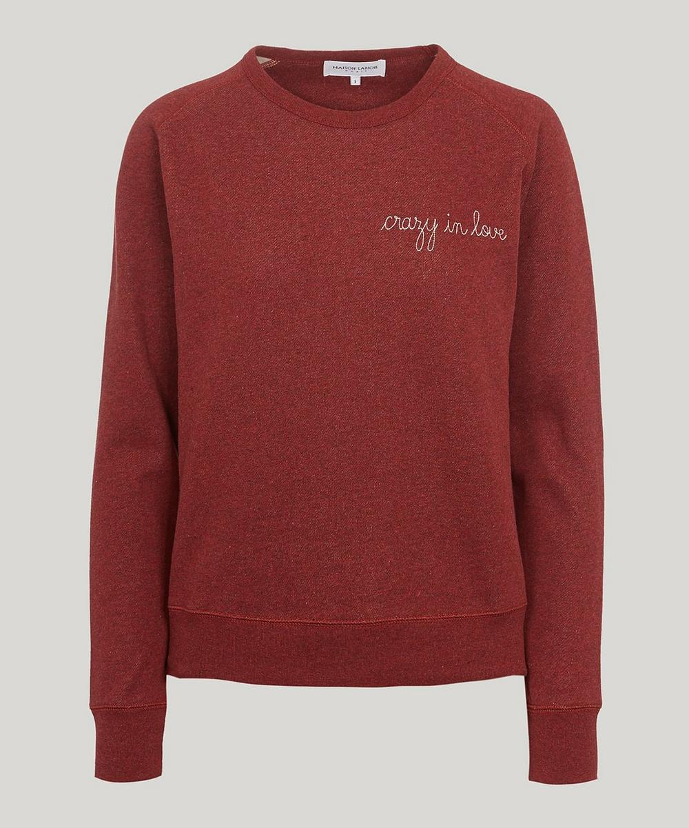 Maison Labiche CRAZY IN LOVE SWEATSHIRT