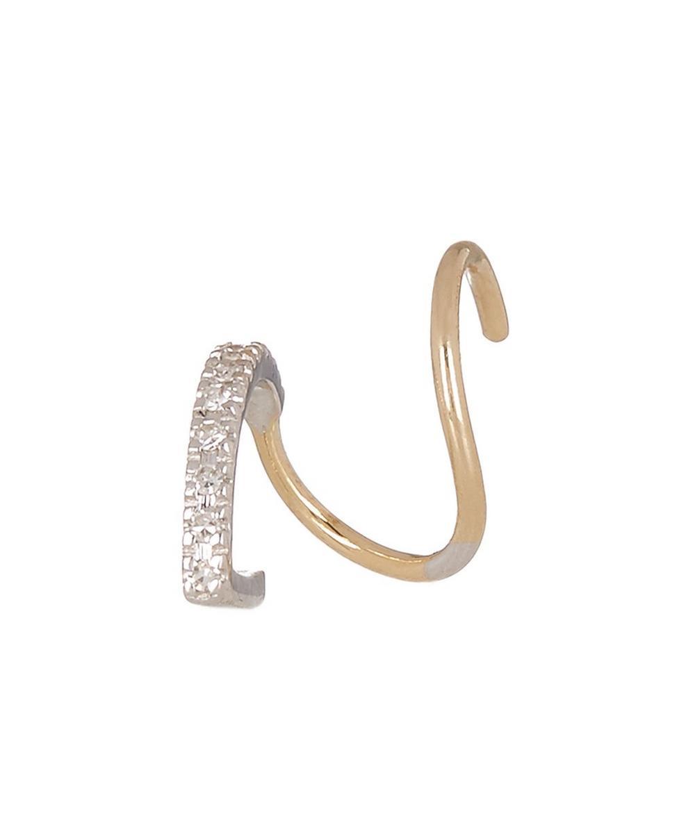 Gold Bela Blanc Twirl Earring Left