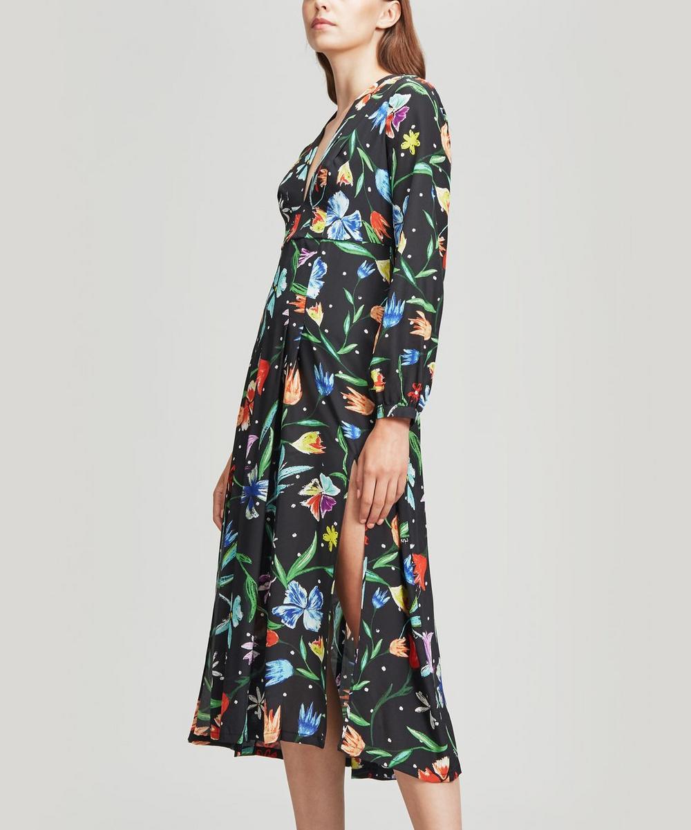 Camellia V-Neck Midi Dress