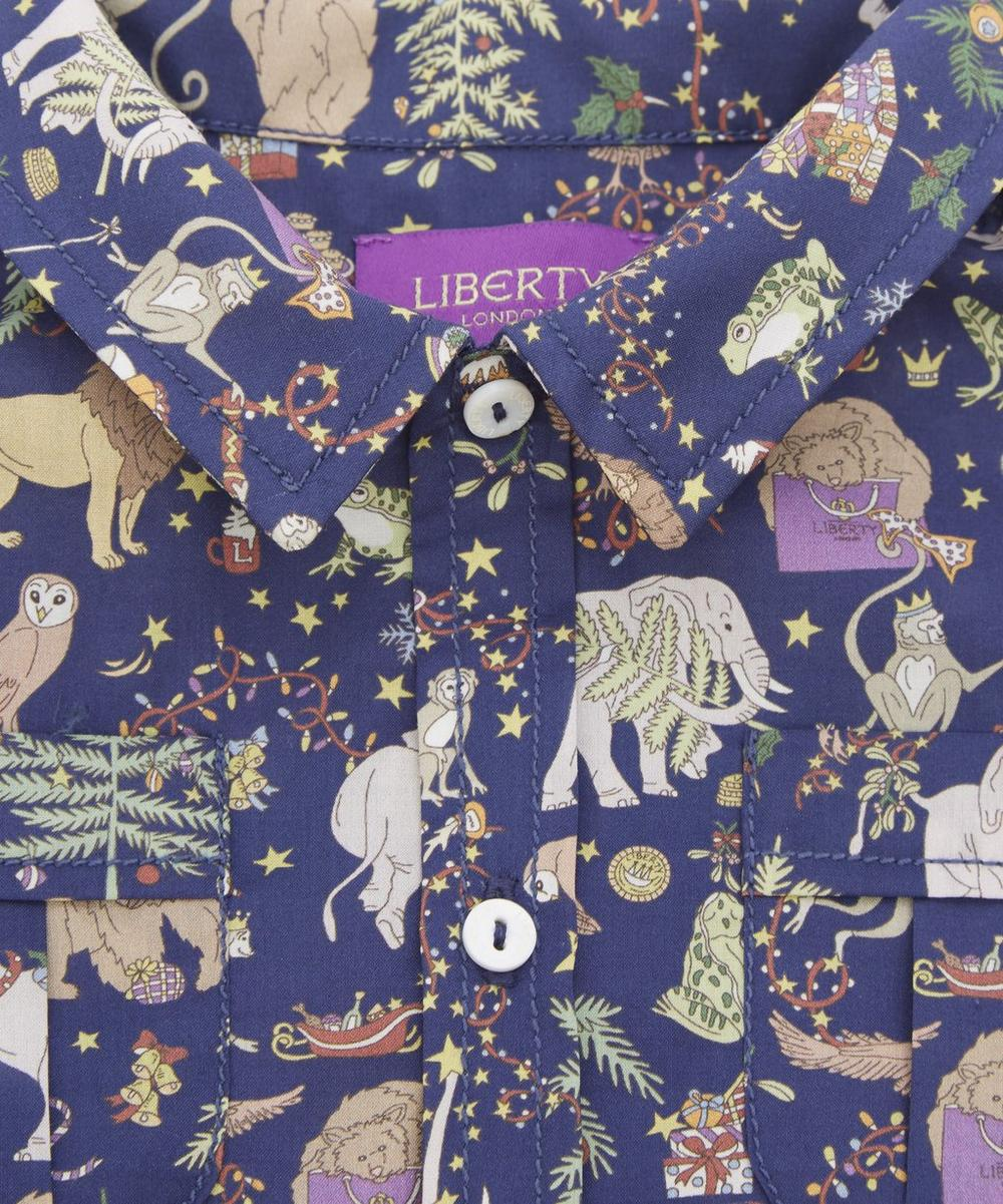 Liberty Christmas Short-Sleeved Shirt 3-24 Months