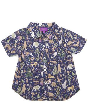 Liberty Christmas Short-Sleeved Shirt 2-10 Years