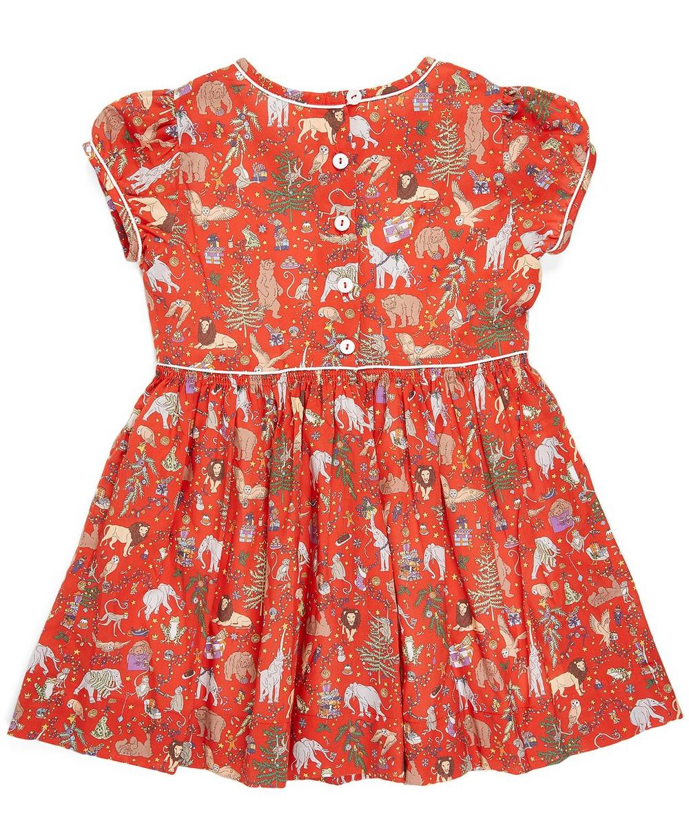 Liberty Christmas Short Sleeved Dress 2-10 Years