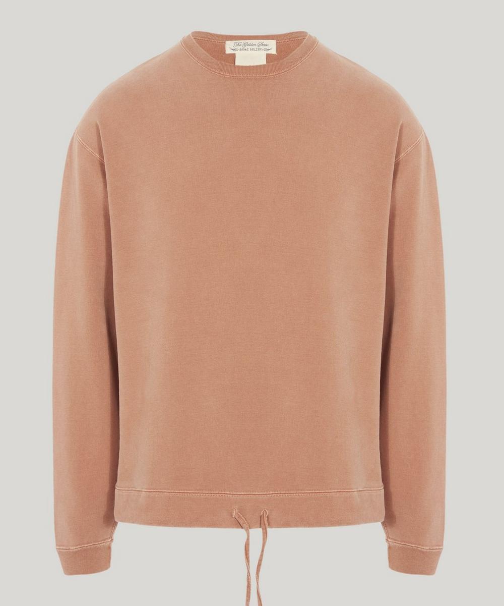 Drawstring Cotton Sweatshirt