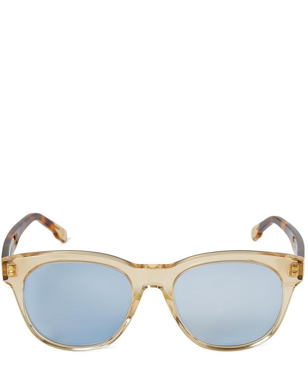 ZANZAN Rizzi Translucent Acetate Round Sunglasses in Blue